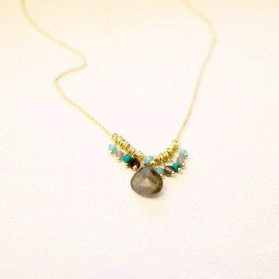 Annahmol Necklace Smoky Quartz Drop Necklace