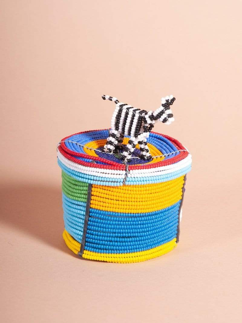 Beadworks Kenya Box Beadworks Decorative Animal Box