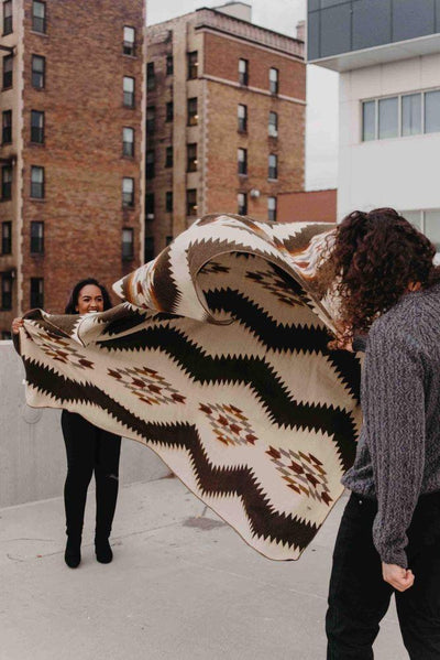 Beyond Borders Collective Tsachila-Chocolate Blanket