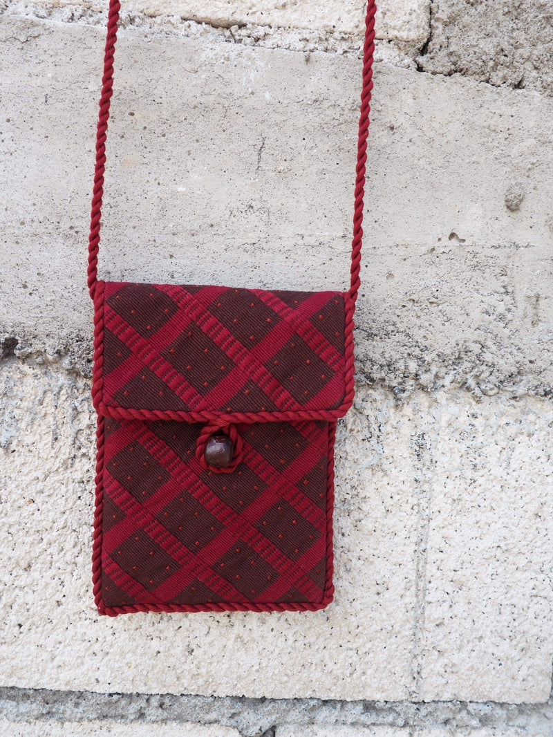 Cojolya Pocket on a String Pocket on a String in Classic Coffee Plaid