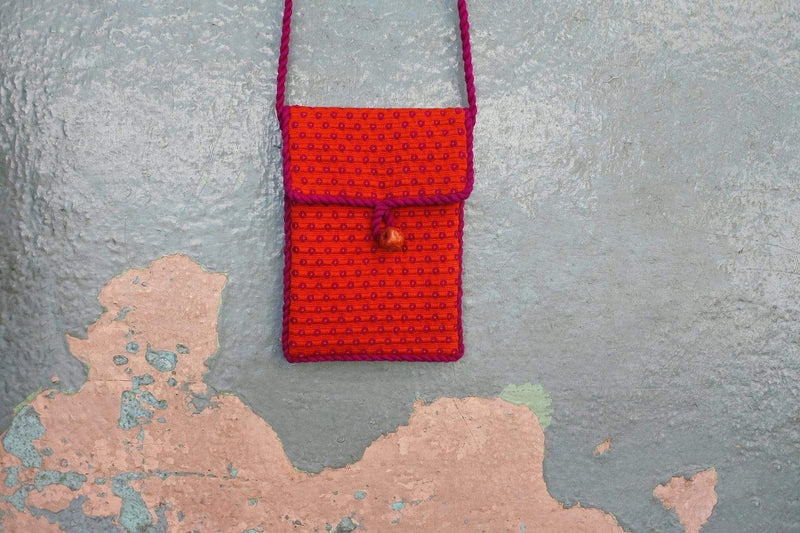 Cojolya Pocket on a String Pocket on a String in Orange Dragonfruit