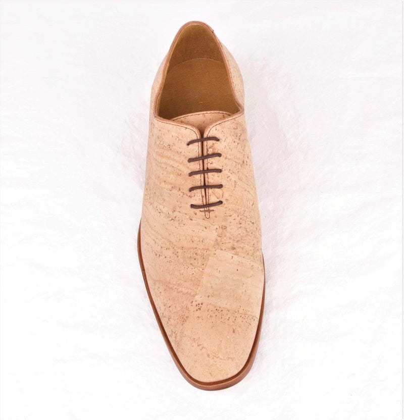 CorkStyle Oxford Men's Natural Cork Smooth Oxford, Morilite Sole, Biodegradable Interior