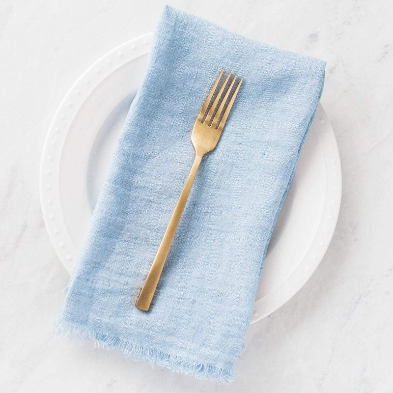 Creative Women Napkins STONE WASHED LINEN DINNER NAPKIN - LIGHT BLUE