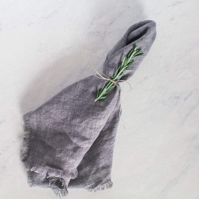Creative Women Napkins STONE WASHED LINEN DINNER NAPKIN - OYSTER