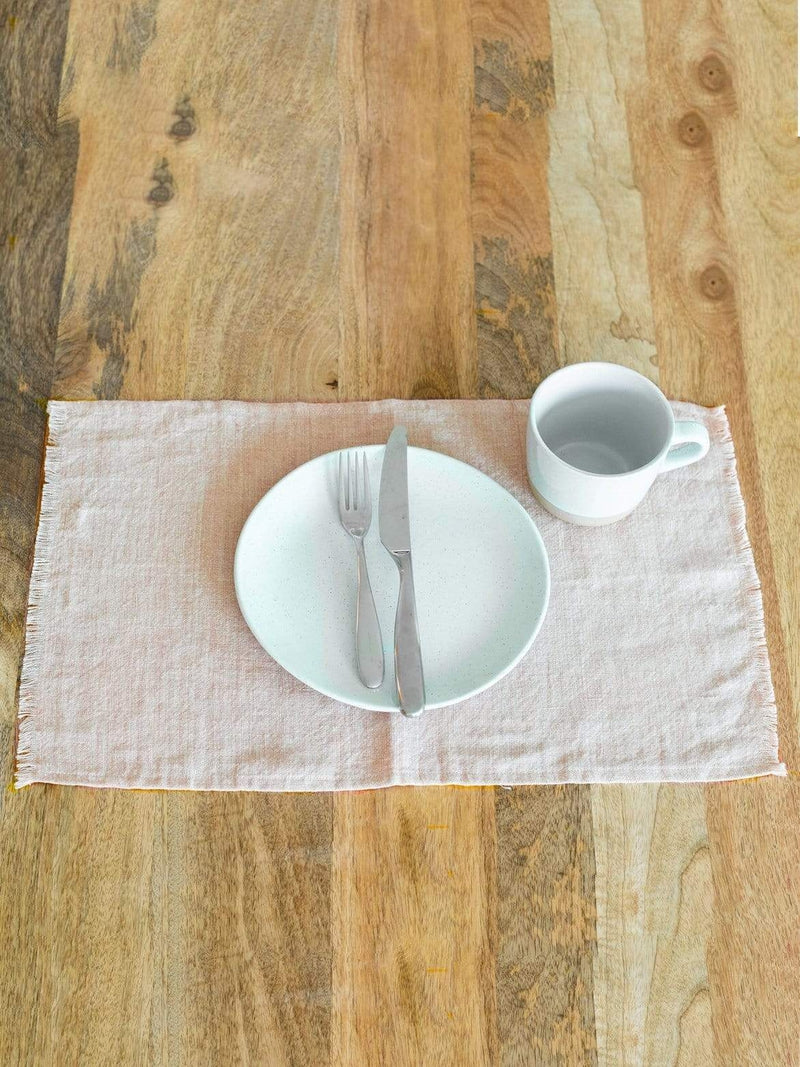 Creative Women Placemat STONE WASHED LINEN PLACEMAT - BLUSH