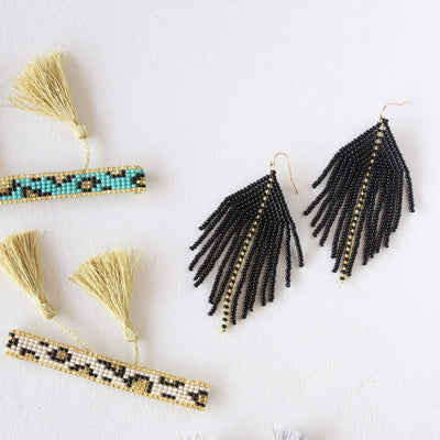 FOSTERIE Earrings Raya Black Earrings