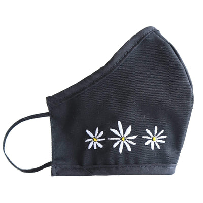 FOSTERIE Face Mask Daisy Embroidered Mask