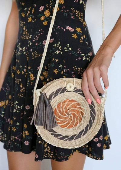 FOSTERIE Redondo Tassel Bag Brown