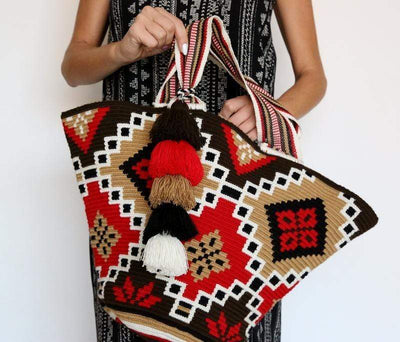 FOSTERIE Tote Tassel Tote Red