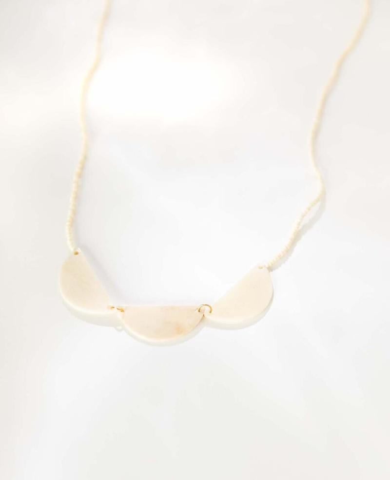Haiti Design Co. Necklace Half Moon Necklace