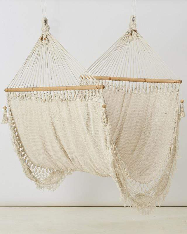 Love for Nica Nica Hammock in Natural White - Double Knotted