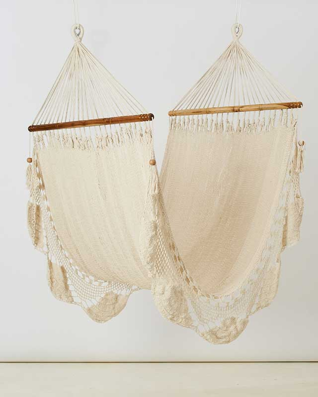 Love for Nica Nica Hammock in Natural White - Single Knotted