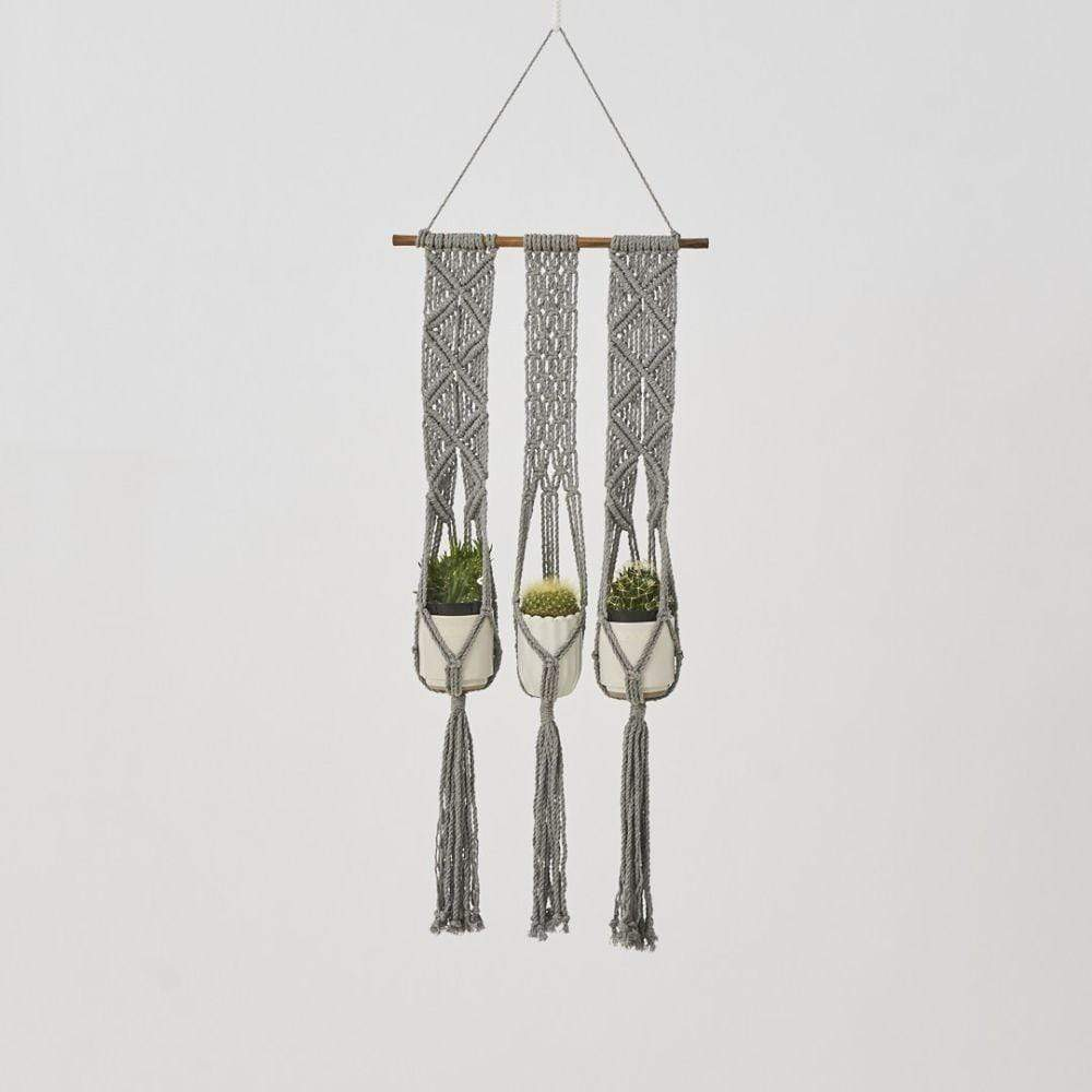 Love for Nica Leon Macrame Plant Holder in Gray