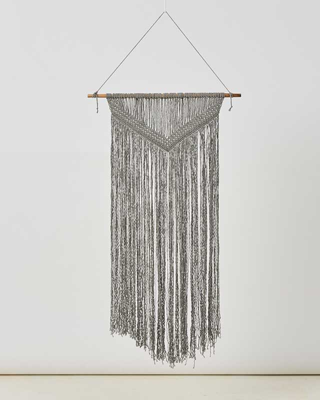 Love for Nica Calala Macrame Wall Hang in Gray