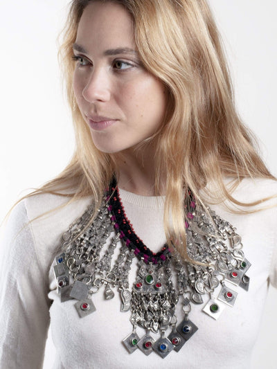 Made by hand in Afghanistan Necklace Parisa Kuchi Afghani Necklace