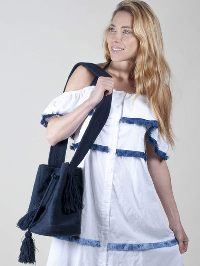 Made by hand in Colombia Handbag Valentina Navy Mochila Purse