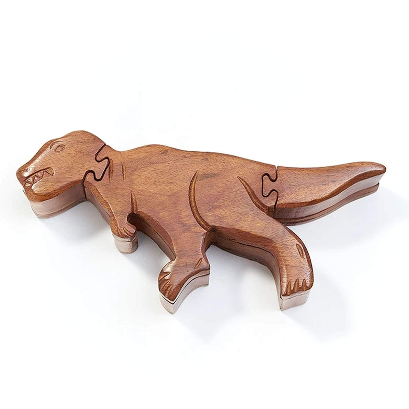 Matr Boomie Games Indian Rosewood T-Rex Puzzle Box