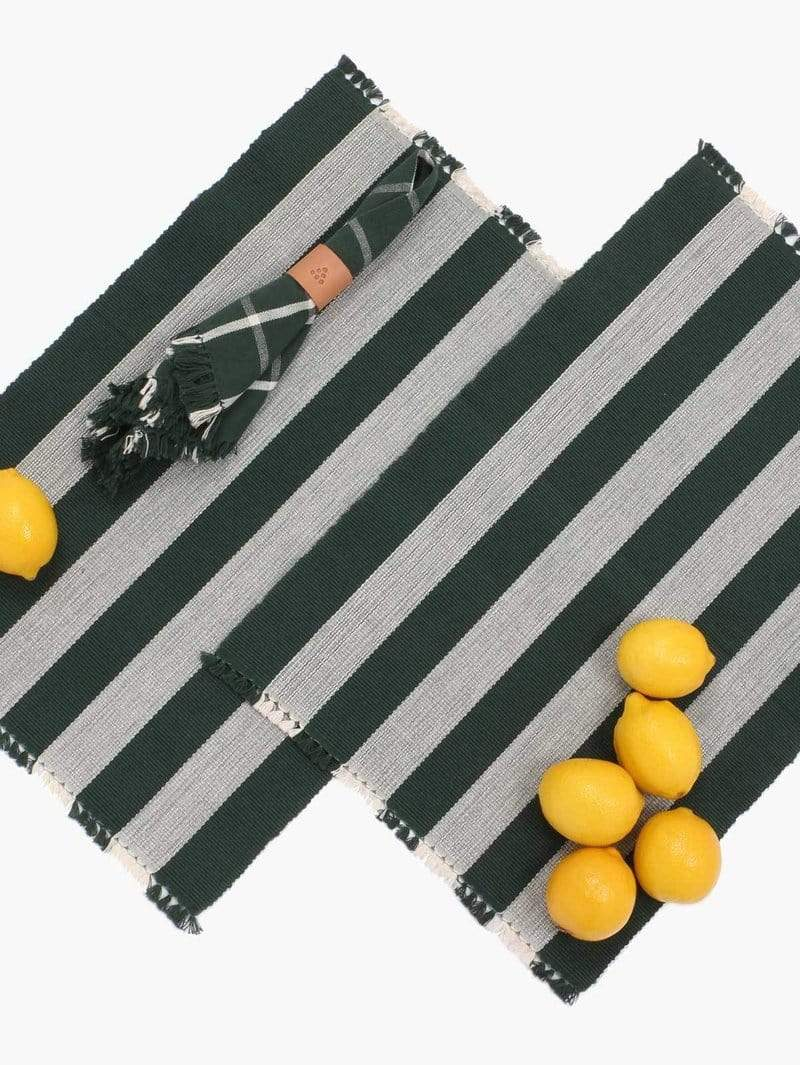 New Market Goods Placemat Chittagong Ribbed Placemats (Pair)