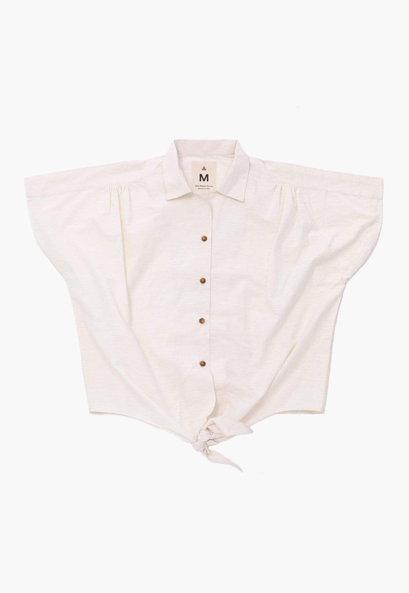 New Market Goods Shirt Comilla Natural Front Tie Shirt