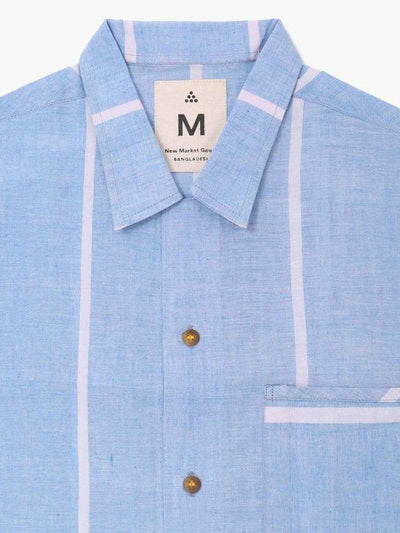 New Market Goods Shirt Lungi Blue Box Button-Down