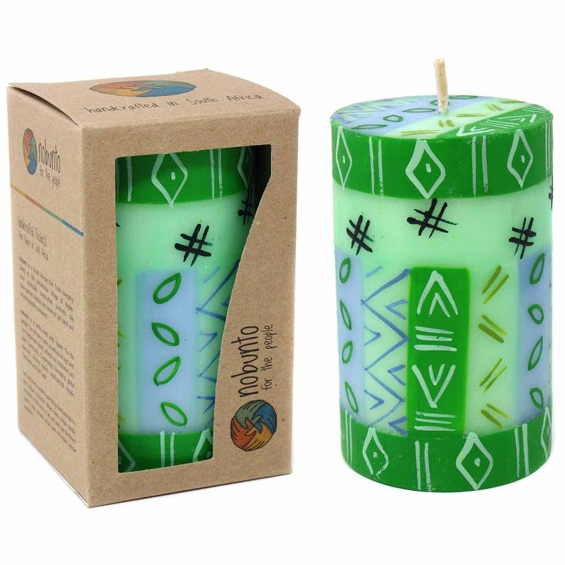 Nobunto Candles Single Boxed Hand-Painted Pillar Candle rih Design
