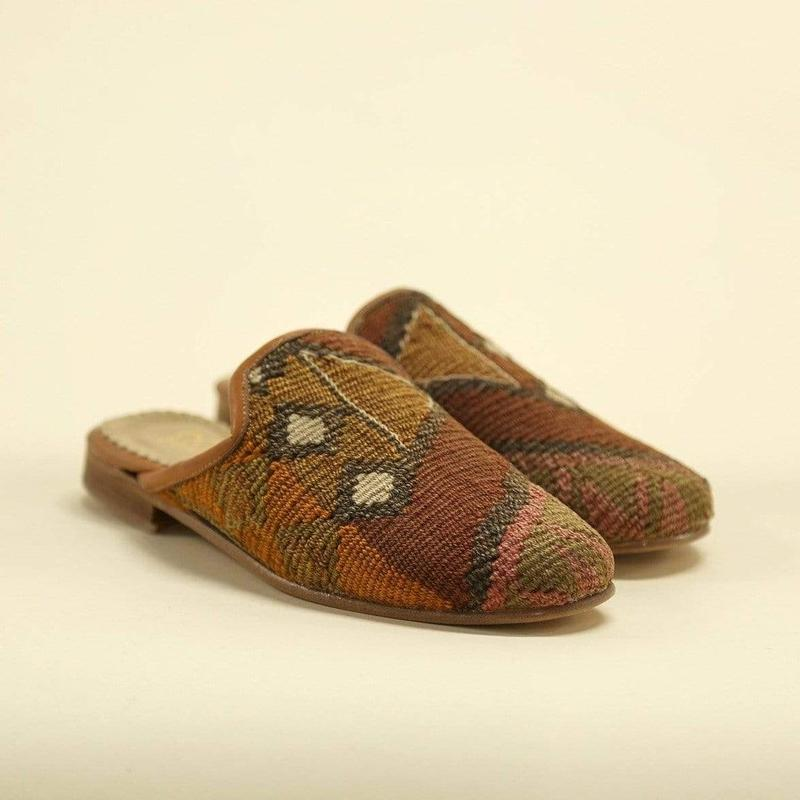 Ocelot Market Turkish Mules Women's Turkish Kilim Mule
