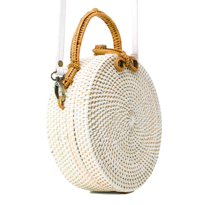 Poppy + Sage Crossbody MILLY BAG (White & Tan)