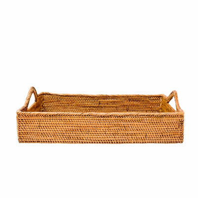 Poppy + Sage Tray Rattan Tray with Handles