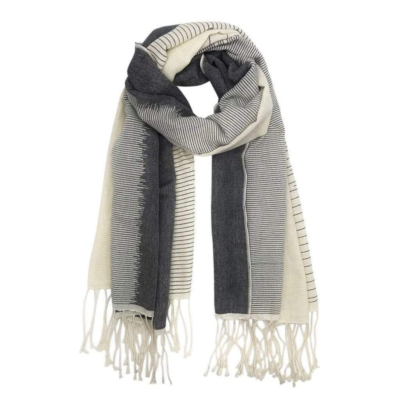 SLATE + SALT Scarf Striped Organic Cotton Scarf