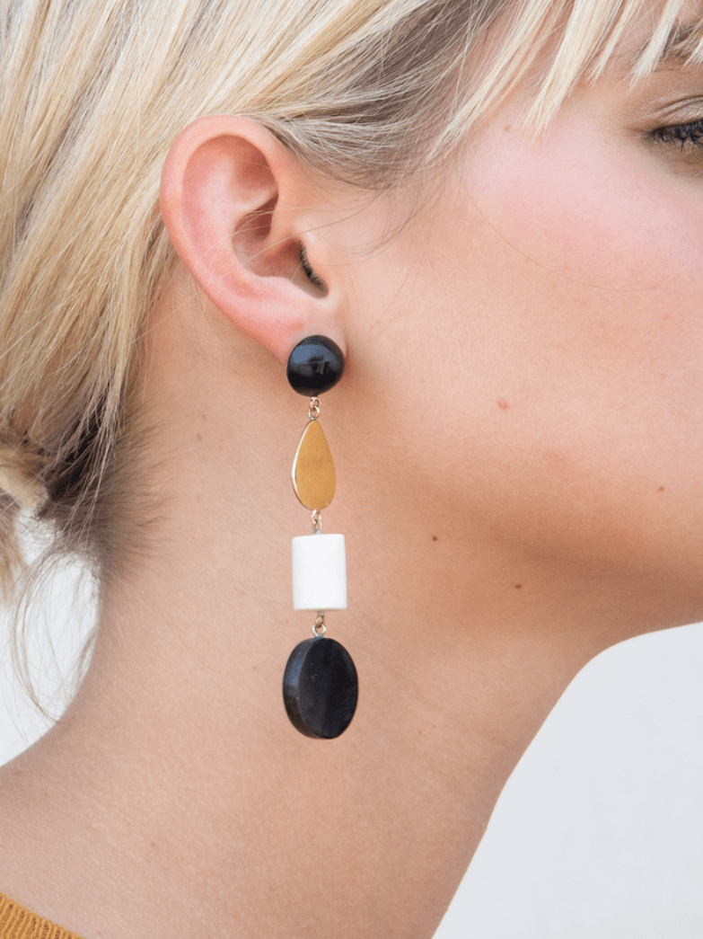 Soko Earrings Luo Mixed Material Dangle Earrings