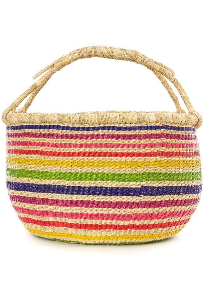Swahili Modern Basket Bolga Rainbow Connection Market Basket
