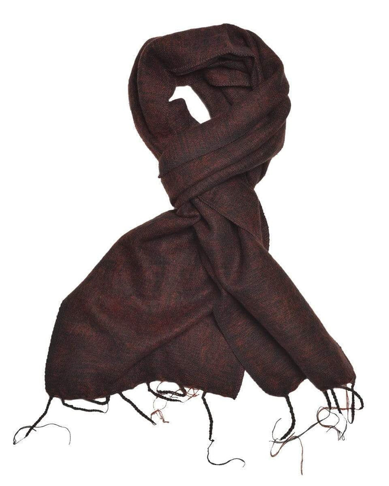 Zig Zag Asian Collection scarves Brushed Woven Scarf in Coffee