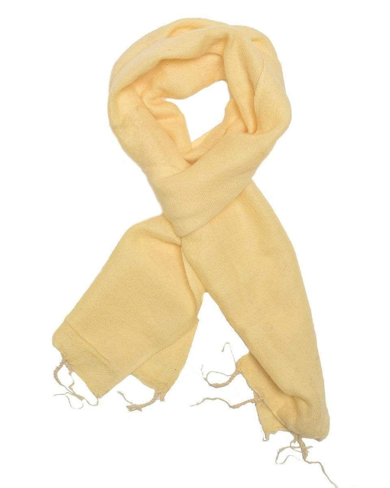 Zig Zag Asian Collection scarves Brushed Woven Scarf in Cream