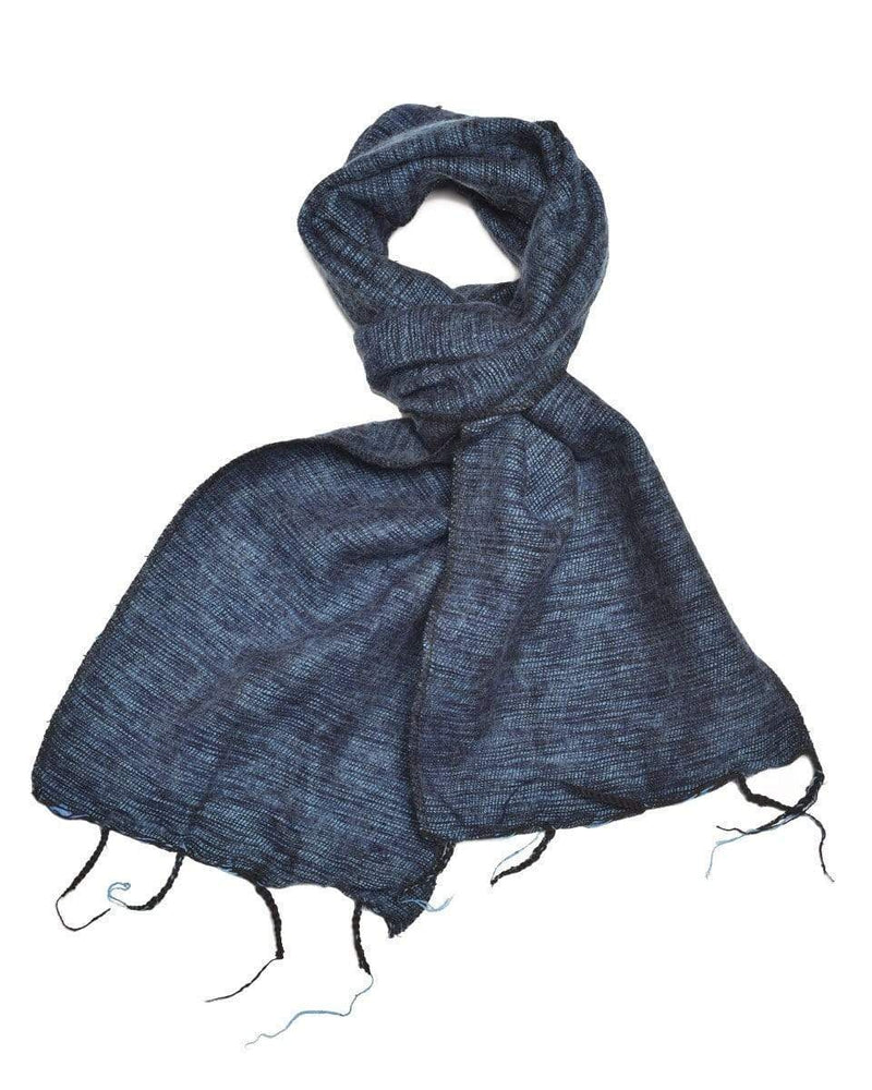 Zig Zag Asian Collection scarves Brushed Woven Scarf in Denim