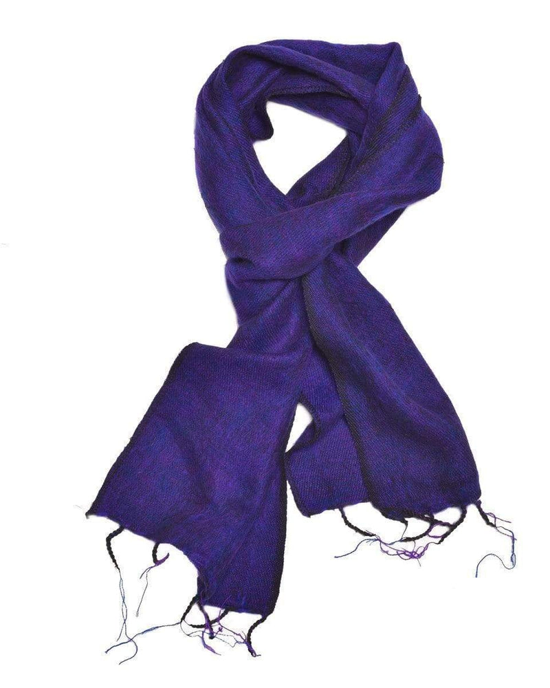 Zig Zag Asian Collection scarves Brushed Woven Scarf in Violet