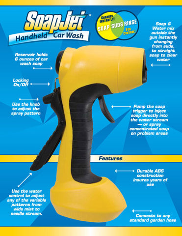 SoapJet Car Wash Hose Nozzle