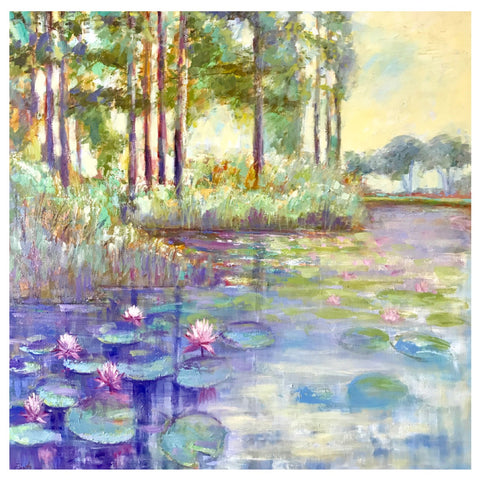 Waterlillies in Watercolor Prints
