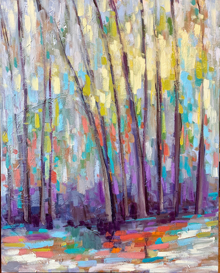 Abstract Trees IV, Size 30 x 24