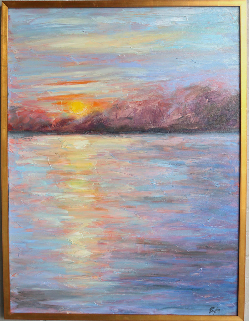 Summer Sunset, Size 40x30, available at the Caron Gallery