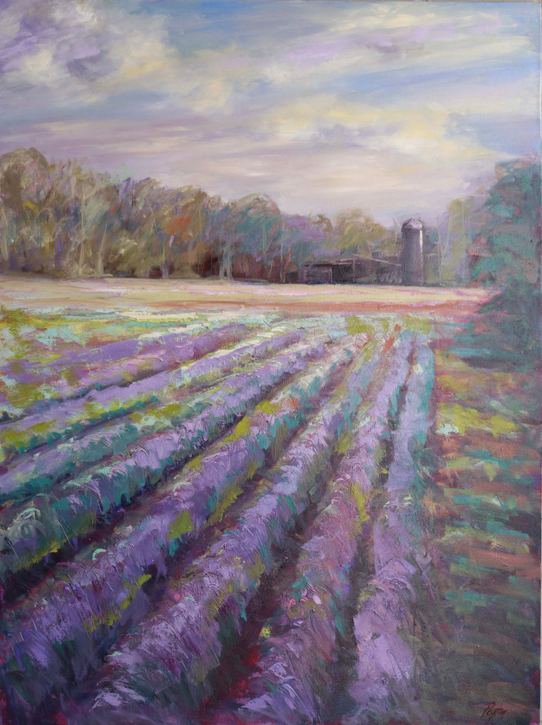 Madison Lavendar, Size 48 x 36, available at the Caron Gallery