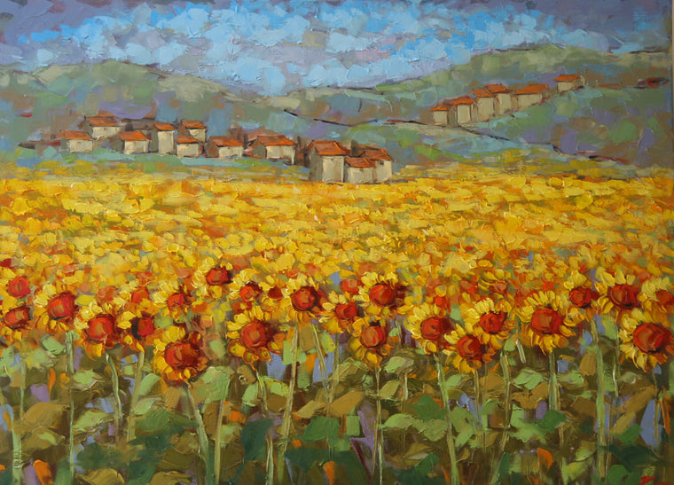 Sunflowers in France Prints