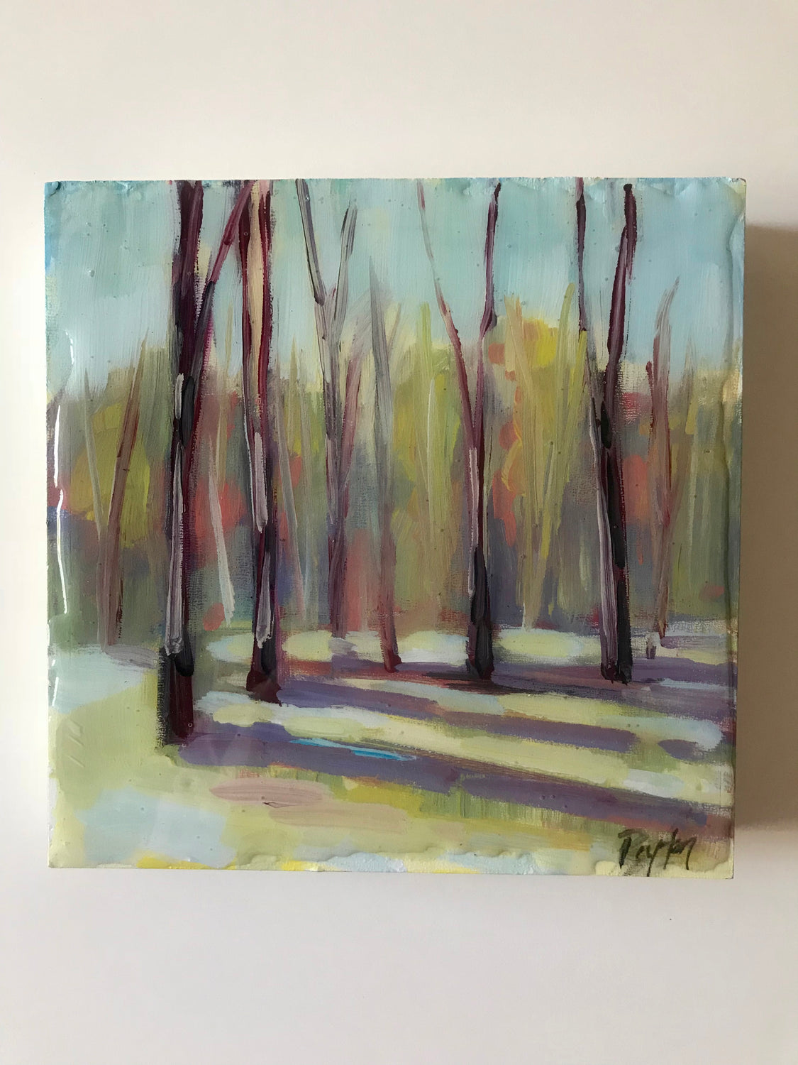 Morning Trees, Size 8 x 8