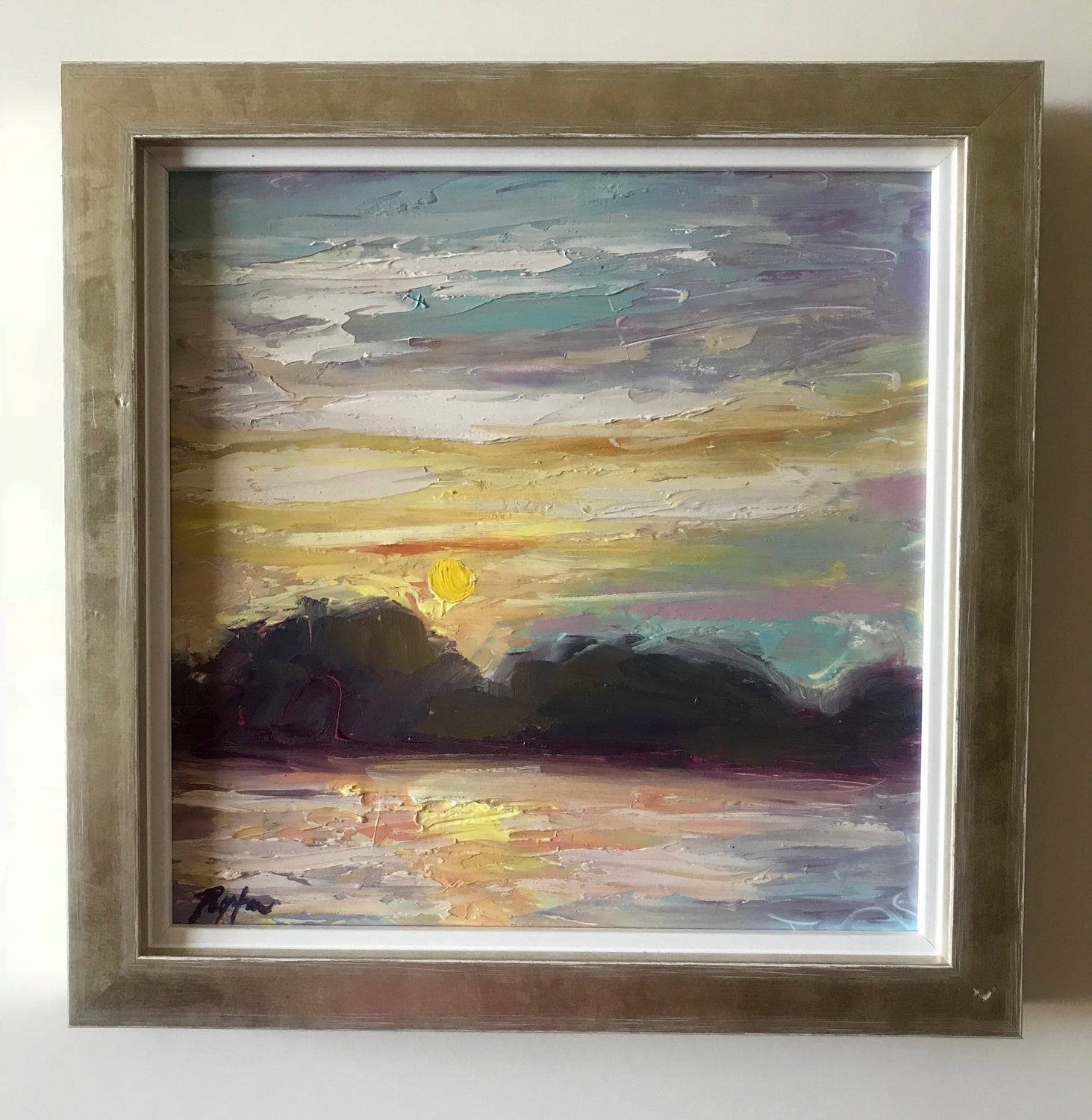 Blue Sunset, Size 10 x 10, available at the Caron Gallery