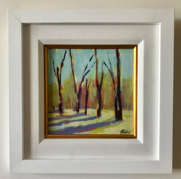 Spring Trees, Size 10 x 10, available at the Caron Gallery