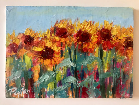Sunflower Study I, Size 5 x 7