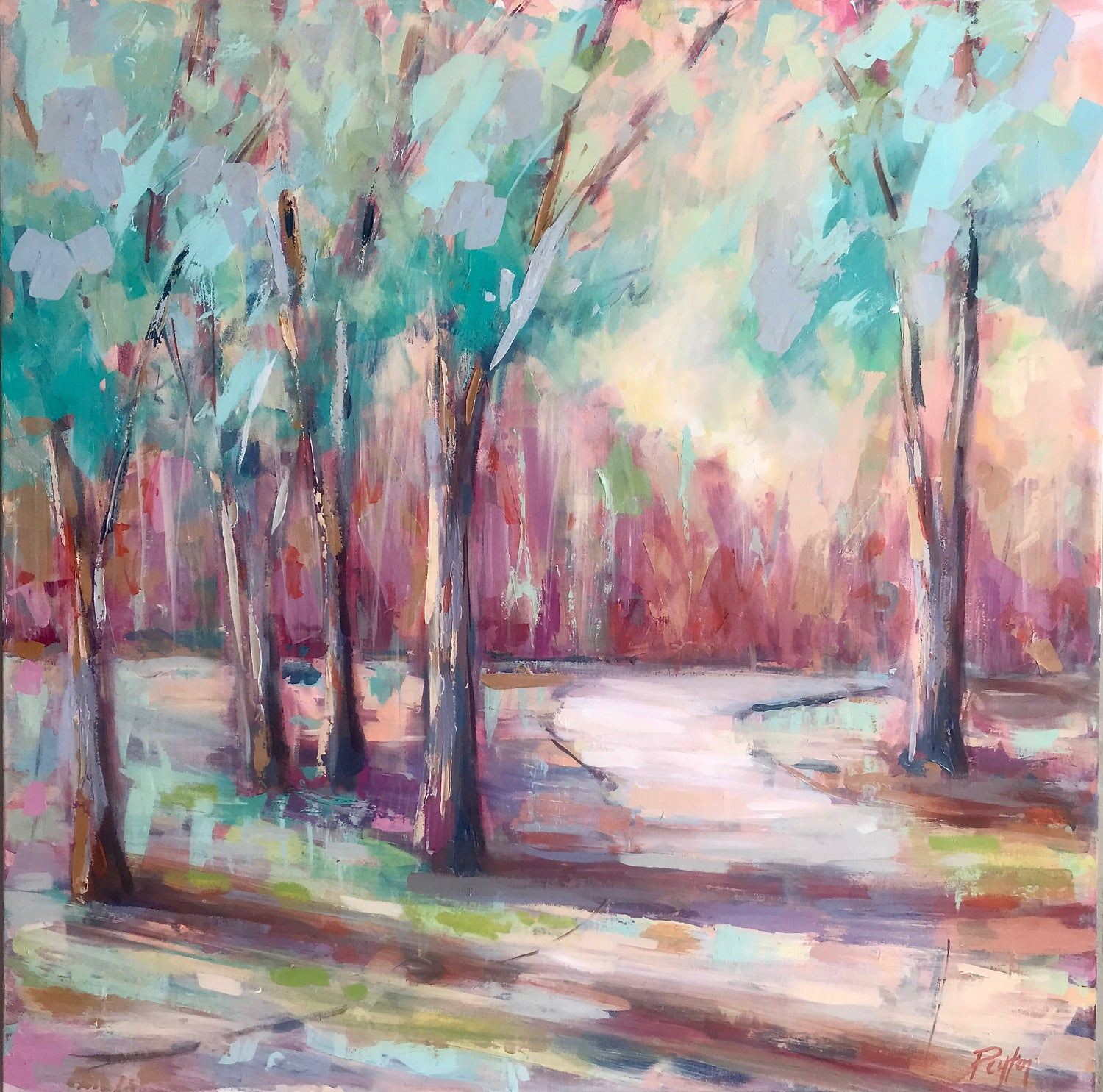 Autumn Trees I, Size 40 x 40