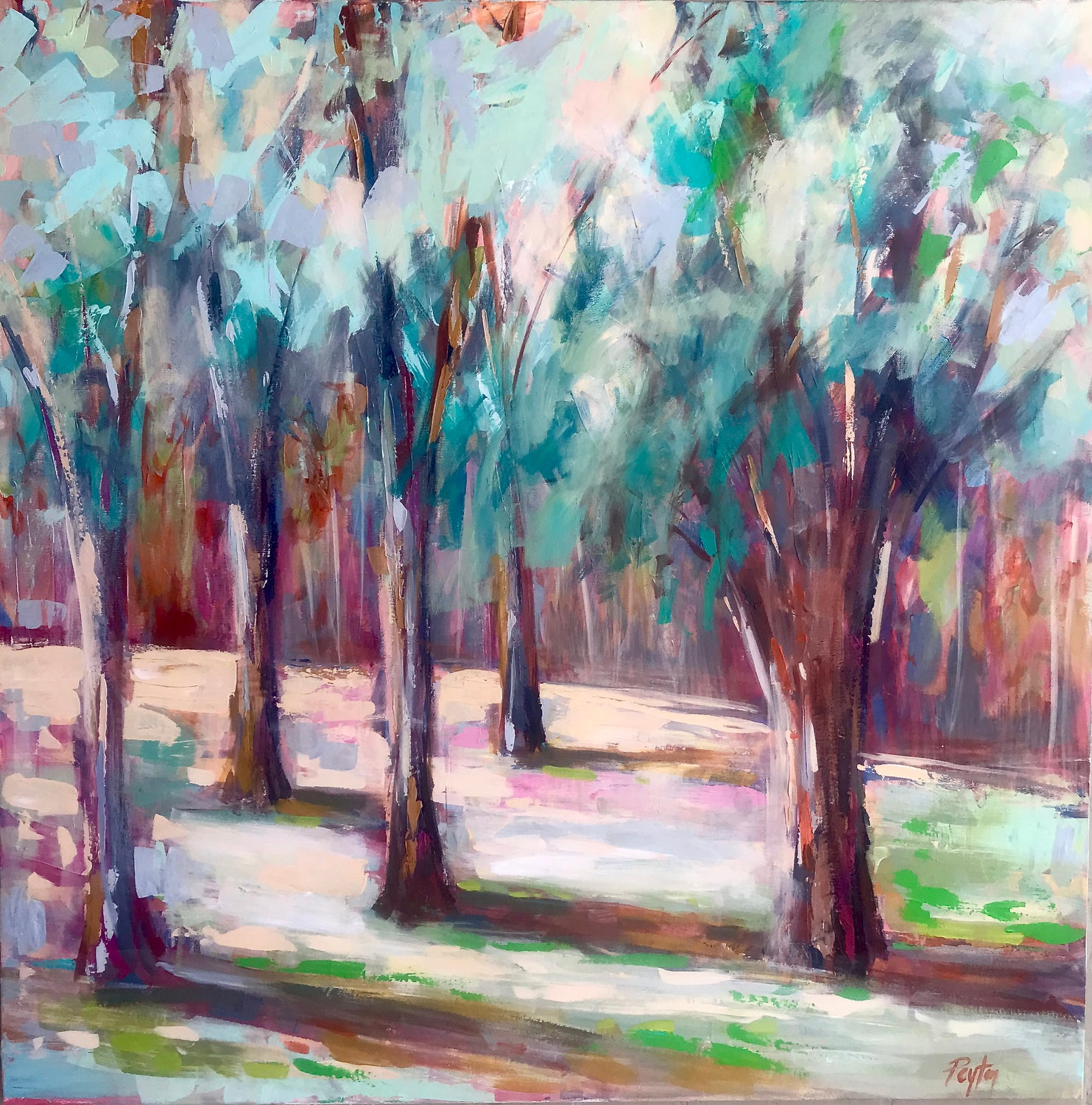 Autumn Trees II, Size 40 x 40