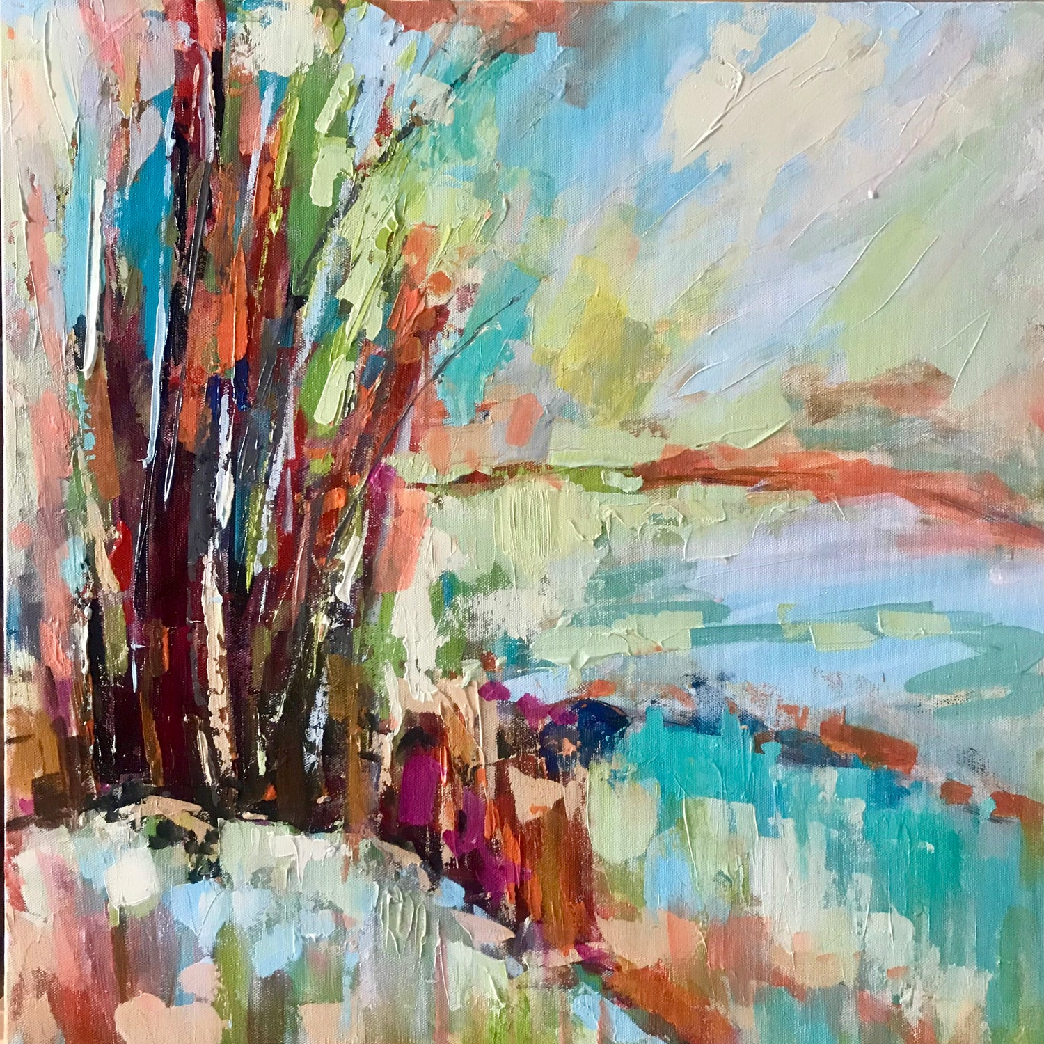 Abstract Landscape I, Size 24 x 24