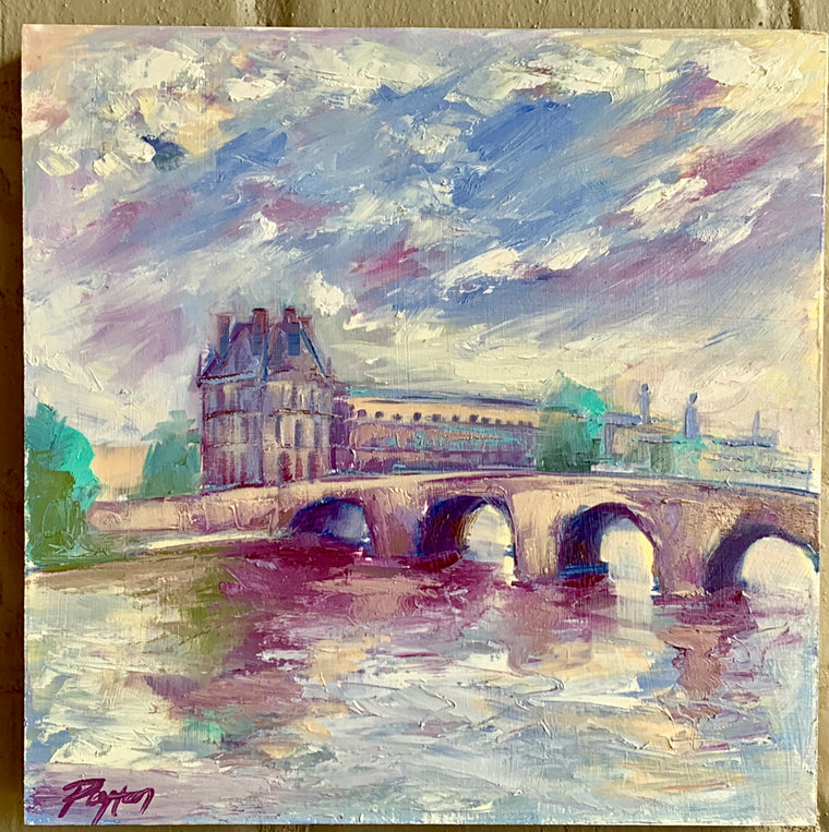 Paris Bridge, Size 12 x 12