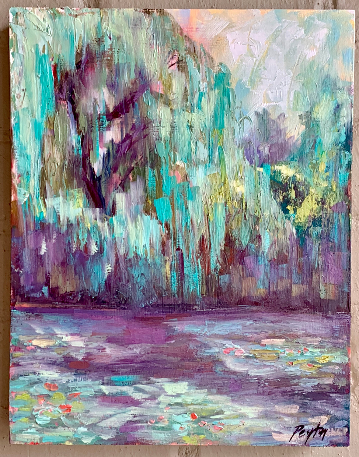 Monet's Willow Trees, Size 14 x 11